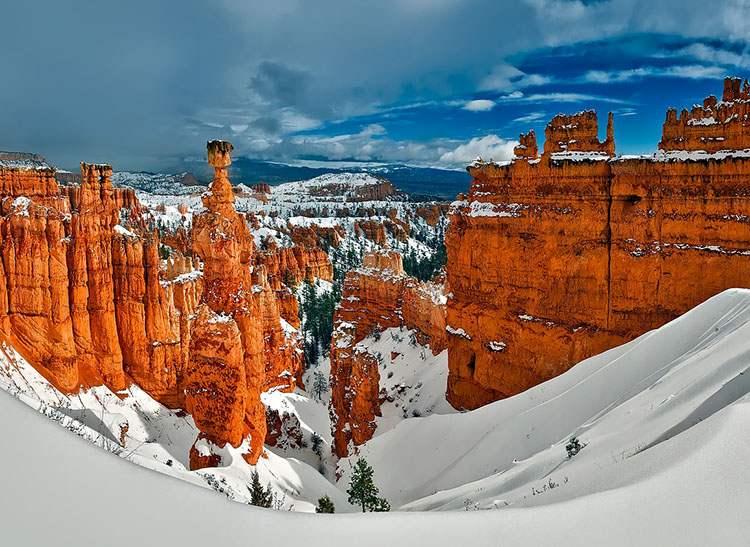 Bryce Canyon zima Utah ciekawostki