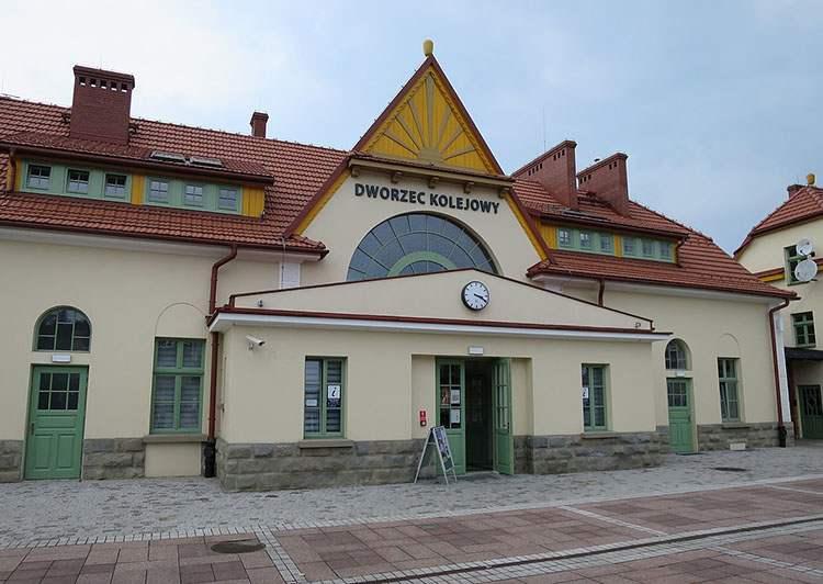 dworzec kolejowy Rabka-Zdrój ciekawostki zabytki