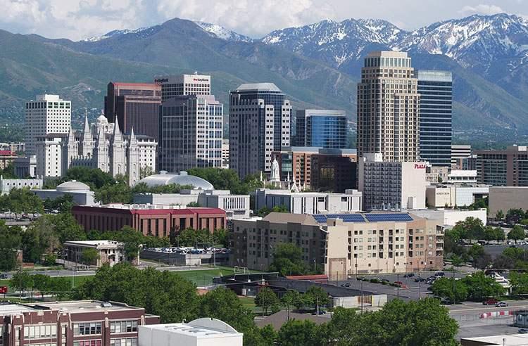 miasto Salt Lake City stolica Utah ciekawostki Góry Skaliste