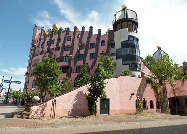 Magdeburg Niemcy Zielona Cytadela HundertWasser