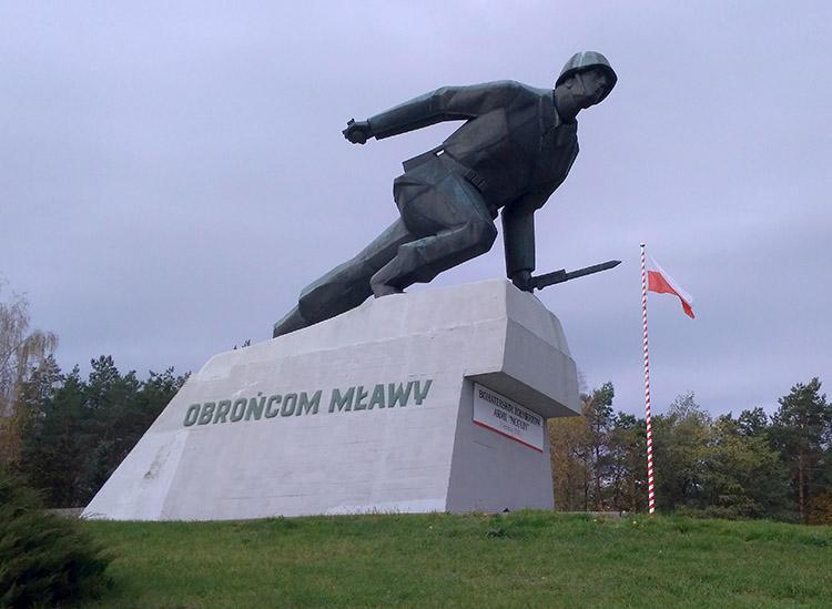 Pomnik Polskiego Piechura  Uniszki Zawadzkie Mława ciekawostki