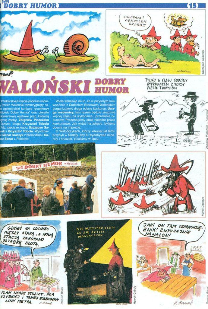 Walończycy ciekawostki Szklarska Poręba Walonowie Waloński Twój Dobry Humor rysunki pismo satyryczne