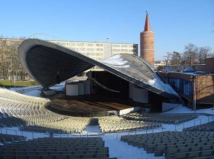 amfiteatr Wieża Piastowska festiwal piosenki Opole ciekawostki zabytki atrakcje