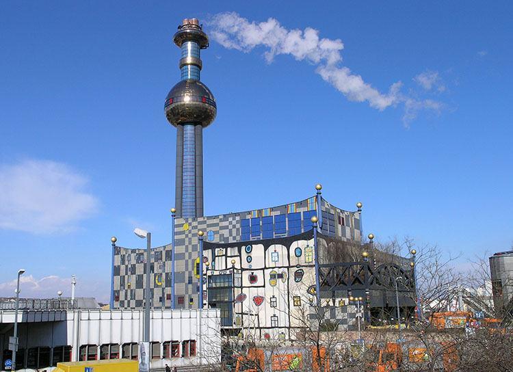 ciepłownia Wiedeń Hundertwasser
