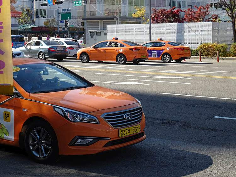 taksówki Korea Południowa poradnik podróże