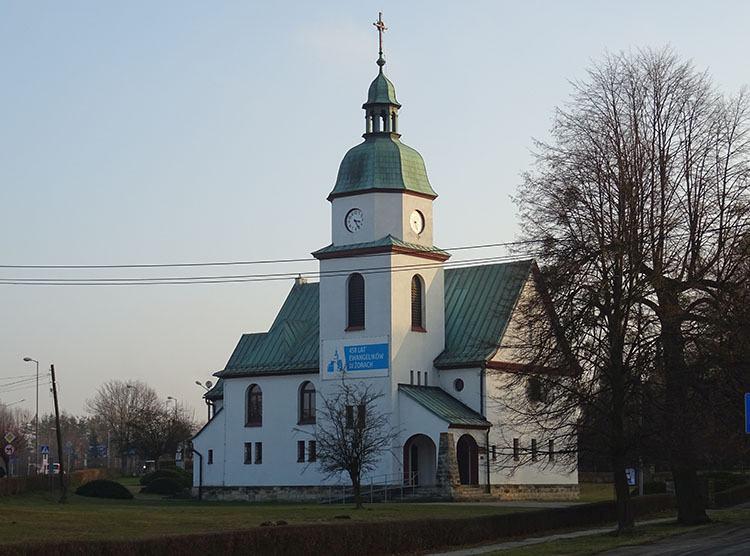 kościół ewangelicki miasto Żory ciekawostki historia atrakcje