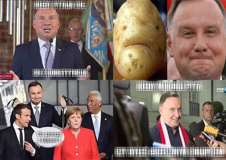 Prezydent Andrzej Duda memy, satyra, obrazki, humor