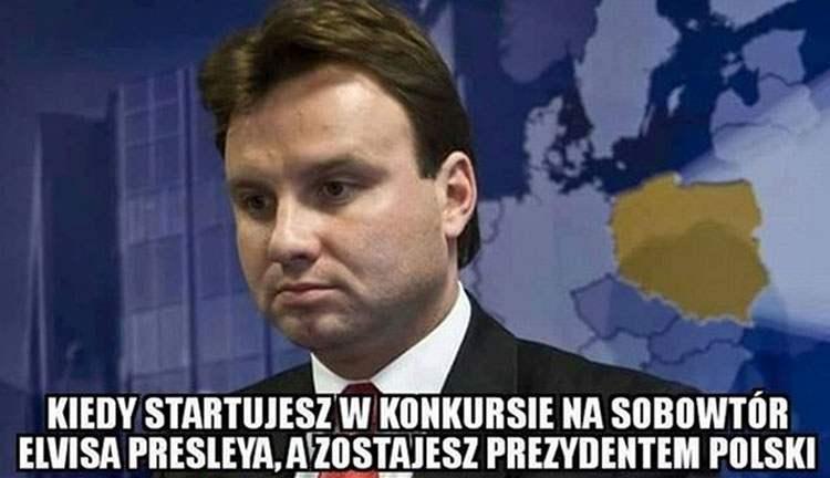 Presley prezydent Andrzej Duda memy satyra humor śmieszne obrazki
