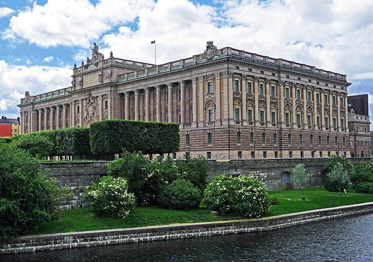 Sztokholm parlament  Szwecji Szwecja ciekawostki
