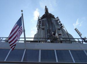 Empire State Building ciekawostki Nowy Jork Manhattan szczyt flaga amerykańska