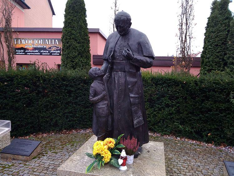 Jan Paweł II pomnik Ostrołęka ciekawostki atrakcje