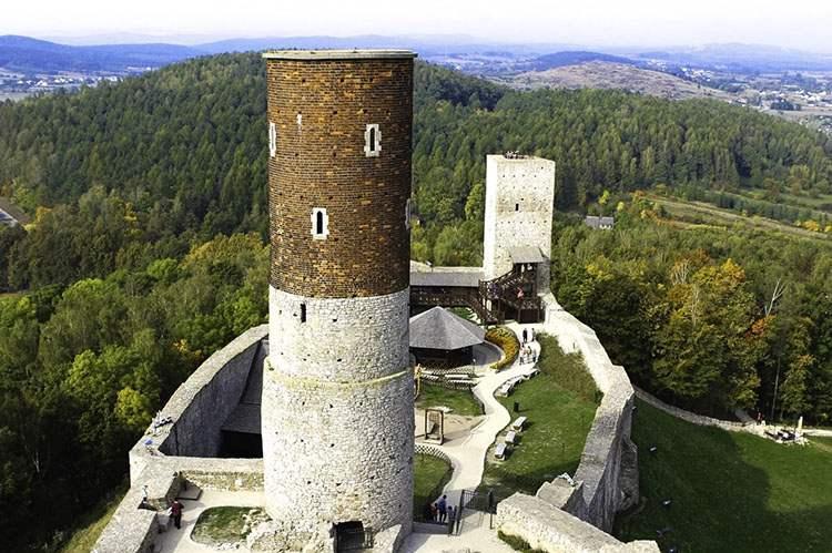 Chęciny ciekawostki zamek ruiny zamku