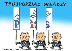 prezes Jarosław Kaczyński dowcipy PiS rysunki karykatury Prawo i Sprawiedliwość kawały polityczne polityka