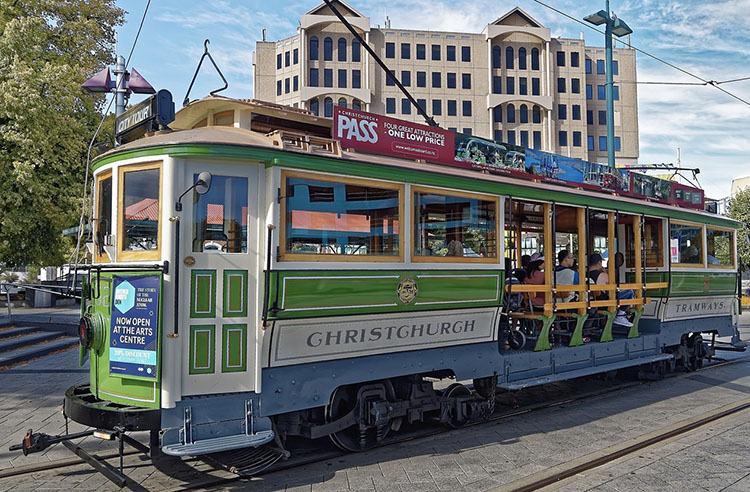 tramwaj Christchurch Nowa Zelandia ciekawostki