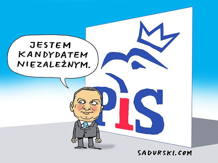 wybory 2020 kampania wyborcza humor prezydencka Andrzej Duda prezydent rysunki satyra