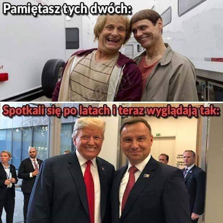 śmieszne memy polityczne PiS wybory Duda humor polityczny satyra prezydent Duda Donald Trump
