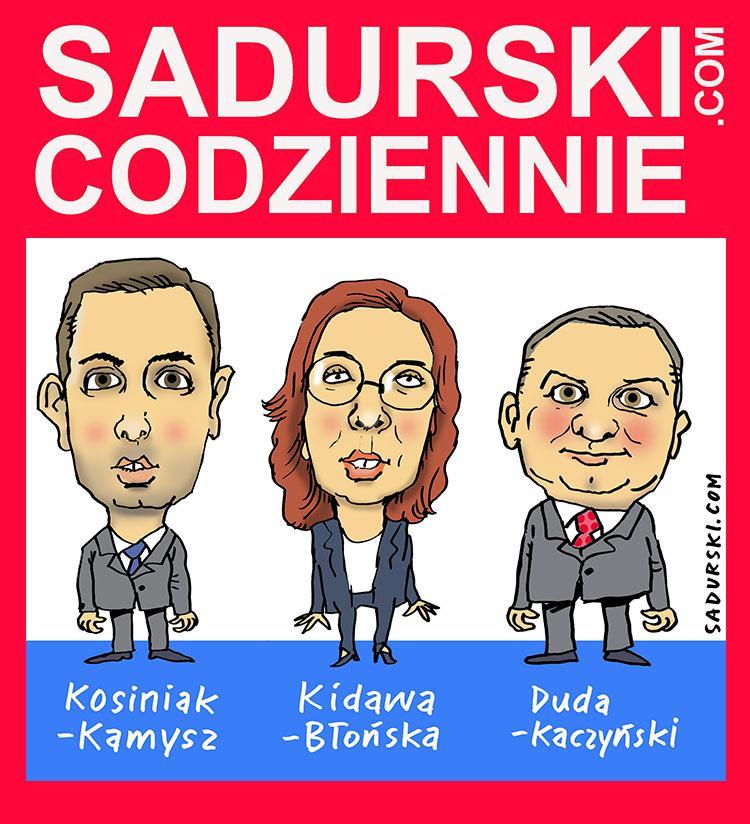 śmieszne memy polityczne PiS wybory Duda Kaczyński Kosiniak Kamysz Kidawa Błońska
