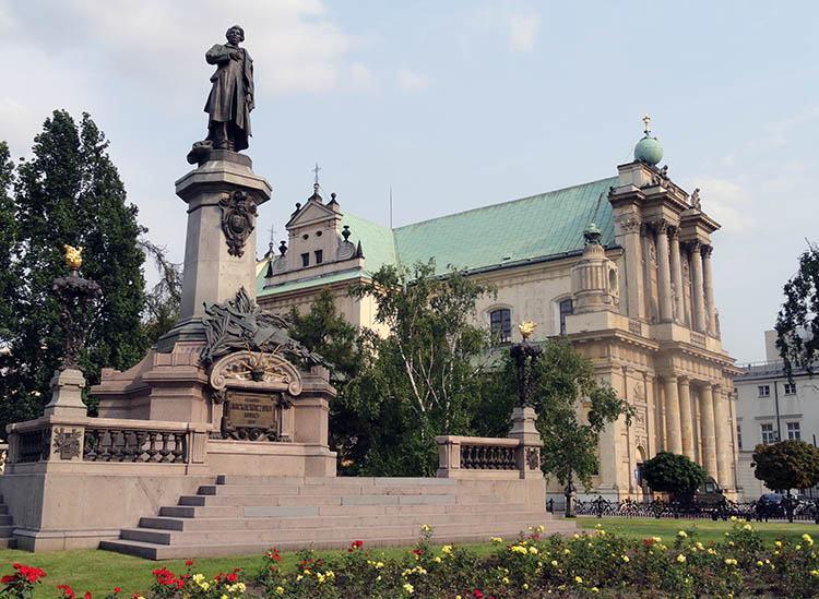 Adam Mickiewicz pomnik Warszawa ciekawostki