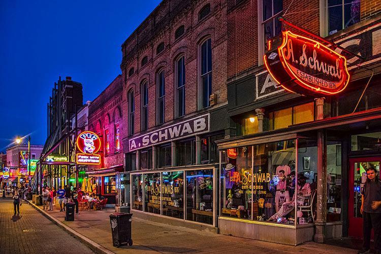 Beale Street Memphis ciekawostki USA kluby blues Tennessee