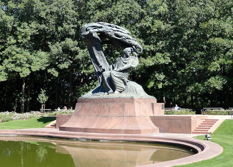 Fryderyk Chopin pomnik Warszawa ciekawostki Łazienki