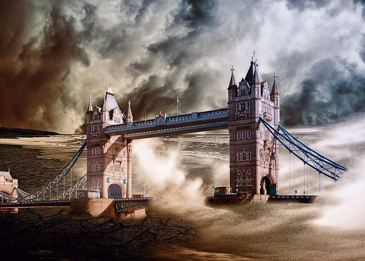 Londyn Powódź katastrofy kataklizmy III wojna światowa armageddon przepowiednie 2020 rok