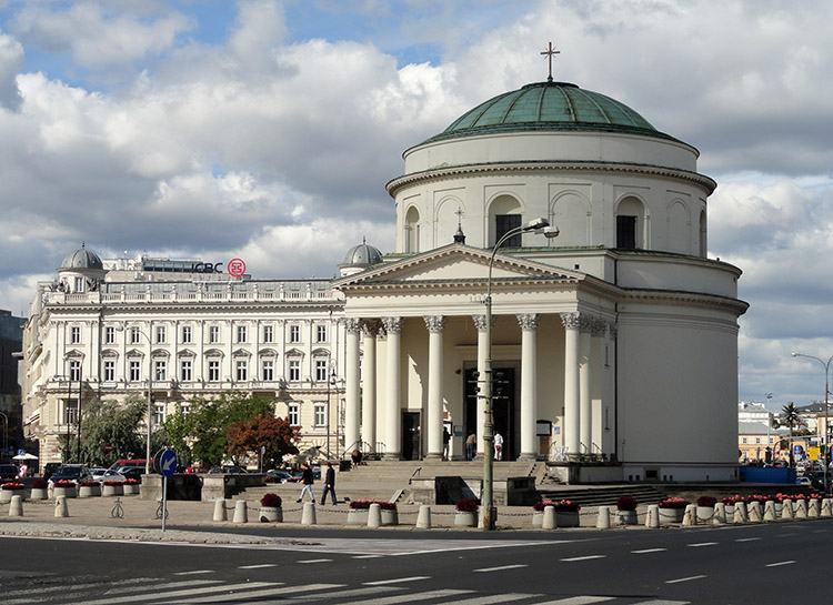 Plac Trzech Krzyży Warszawa ciekawostki zabytki