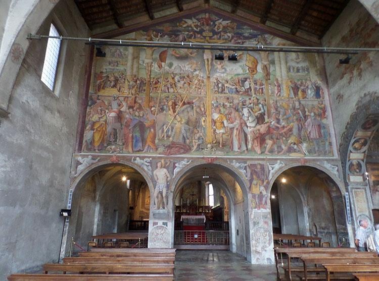 kościół Santa Maria degli  Angioli Lugano Szwajcaria freski
