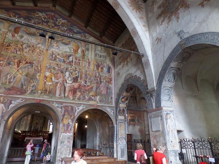 kościół w Lugano Szwajcaria freski