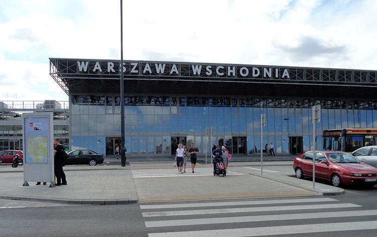 Warszawa Wschodnia dworzec PKP kolejowy ciekawostki