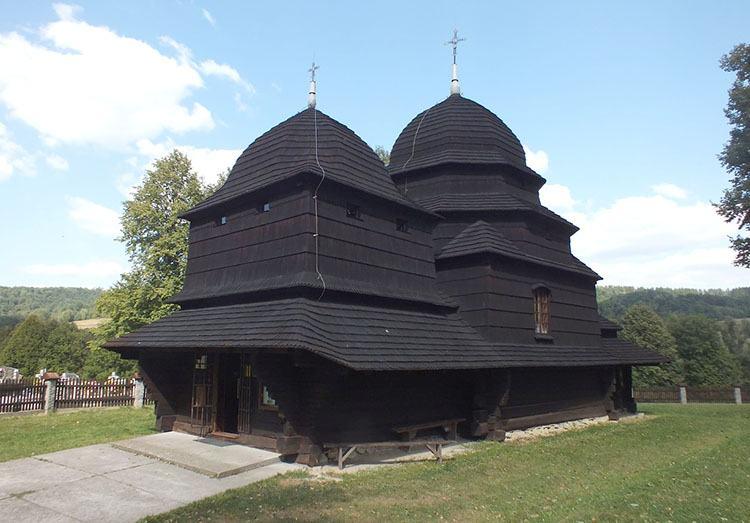 drewniana cerkiew Szlak Architektury drewnianej góry Bieszczady ciekawostki