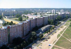 falowiec Gdańsk najdłuższe budynki w Polsce Polska osiedle zieleń domy