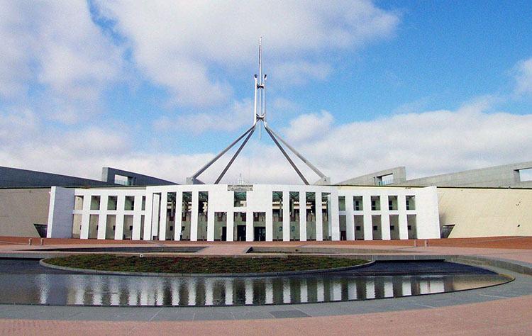 parlament miasto Canberra ciekawostki Australia stolica zabytki atrakcje