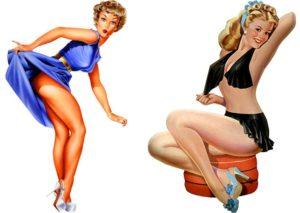 pin-up girl ciekawostki sztuka USA kobiety