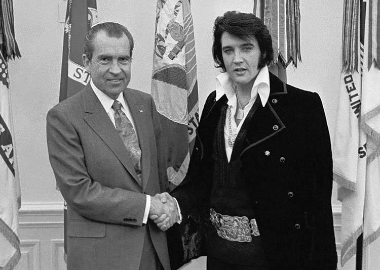 Elvis Presley anegdoty ciekawostki prezydent Richard Nixon 1970 Elvis Presley anegdoty ciekawostki