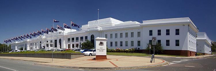stary parlament miasto Canberra ciekawostki Australia stolica zabytki atrakcje