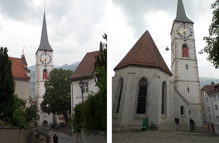 wieża zegarowa Chur ciekawostki atrakcje zabytki Szwajcaria