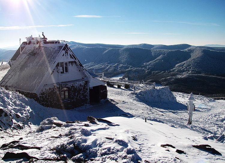 zima śnieg góra góry Bieszczady ciekawostki