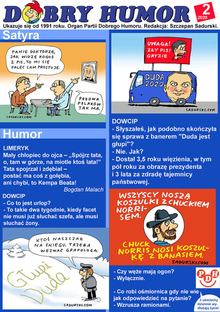 Dobry Humor numer 2-2020 dowcipy satyra