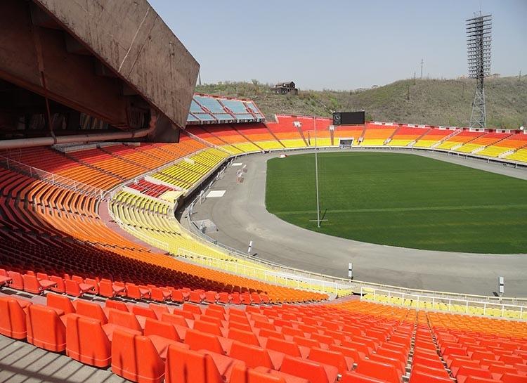 Hrazdan stadion Erywań Armenia ciekawostki