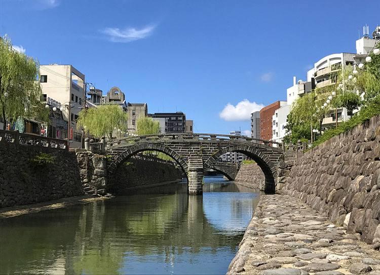 Most Okularowy miasto Nagasaki ciekawostki miasto Japonia Kiusiu