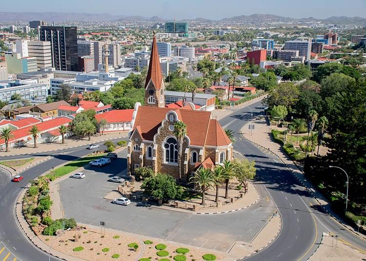 kościół Windhuk Namibia ciekawostki atrakcje stolica miasto