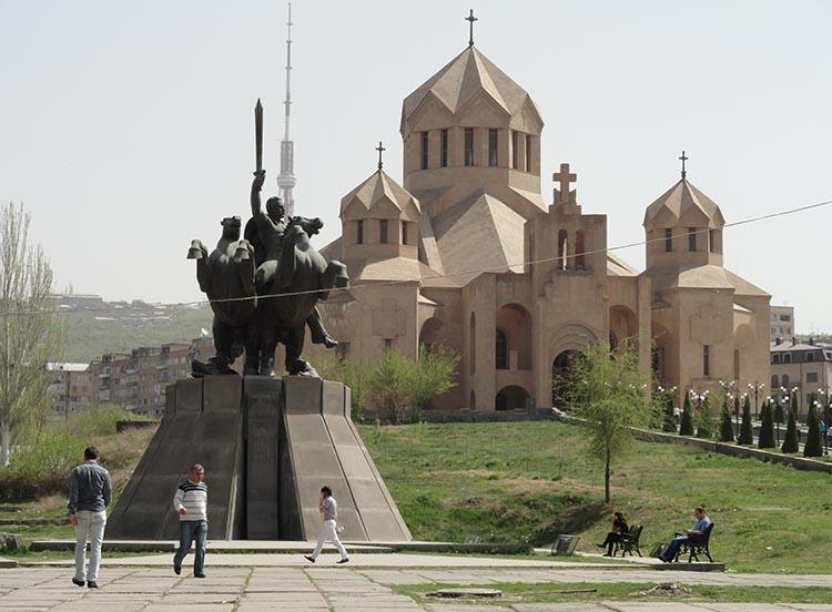 katedra Erywań ciekawostki atrakcje zabytki Armenia Yerevan