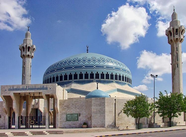 meczet króla Abdullaha I Amman ciekawostki Jordania zabytki atrakcje