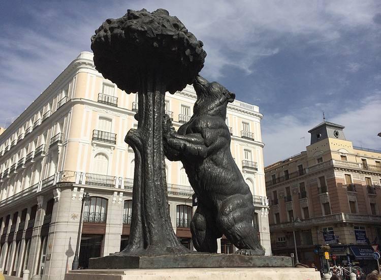 niedźwiedź plac Madryt  ciekawostki atrakcje Hiszpania