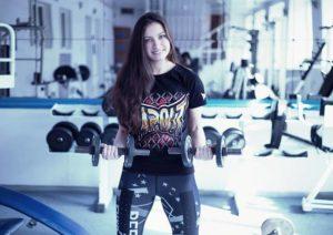 siłownia muzyka kobieta
