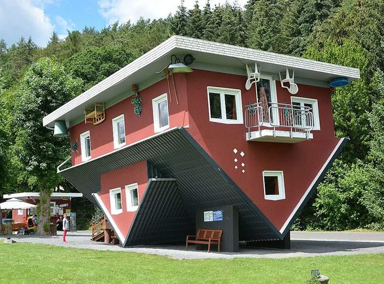 Haus Steht Kopf Terfens Austria najdziwniejsze budowle świata ciekawostki budynki architektura