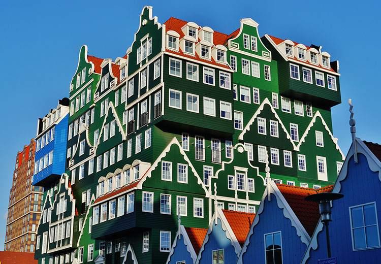 Inne- Hotels Zaanstad Holandia najdziwniejsze budowle świata ciekawostki budynki architektura