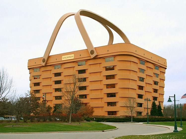 Longaberger Basket Building Newark USA najdziwniejsze budowle świata ciekawostki budynki architektura