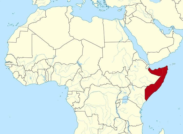 Somalia ciekawostki Afryka mapa