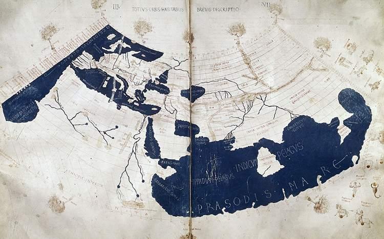 XV wiek Ptolemeusz mapa mapy ciekawostki historia kartografia